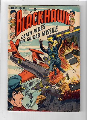 """BLACKHAWK #67 - Grade 4.0 - Golden Age """"Death Rides the Guided Missle!"""""""