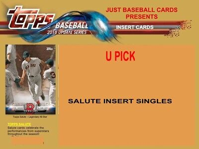 2018 Topps Update Salute Insert Singles U Pick Complete Your Set