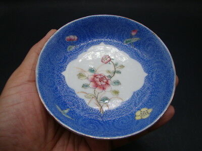 Chinese 1910's nice famille rose small dish (Hong Xian mark)  s5337
