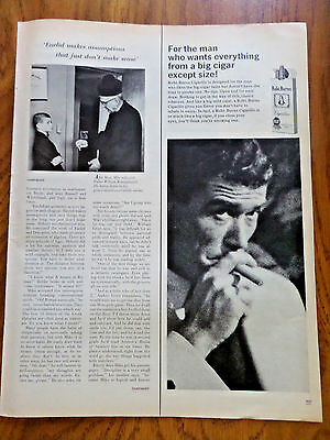 1965 Robt. Burns Cigar Ad For the Man who Wants Everything from Big Except Size
