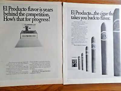 1968 El Producto Cigars Ad Lot of 2 Different Ads