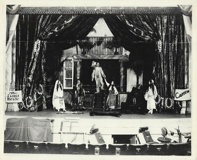Photo-Carter the Great-Lion's Bride Stage Scene-Modern copy of 1920 original-Osp