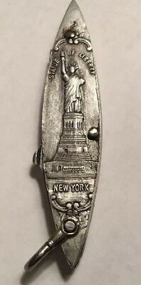 Vintage Solingen Statue Of Liberty, Woolworth Building Penknife