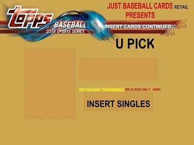 2018 Topps Update Postseason Preeminence Insert Singles U Pick Complete Your Set