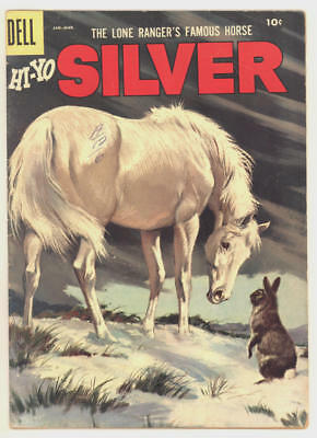 1957 The Lone Ranger's Horse HI-YO SILVER #21 with beautiful painted cover. FINE