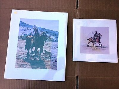 """Two Joelle Smith Limited Edition Western Prints """"The Favorite"""" & """"Missed"""""""