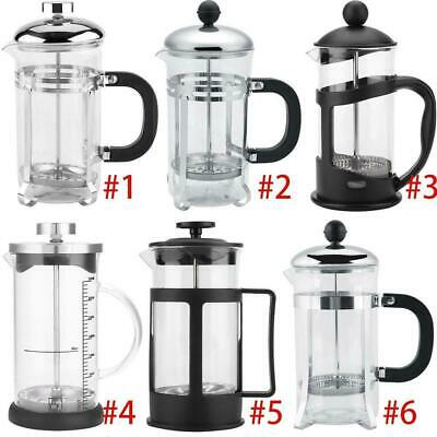 Stainless Steel Glass French Press Pot Filter Cafetiere Tea Coffee Maker 350ml