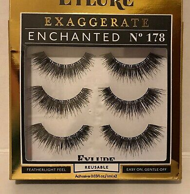 2a1135534c4 New Eylure Exaggerate Enchanted #178 Reusable Eyelashes with Adhesive
