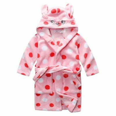 Pyjamas Girls Coral Fleece Dressing Gown Robe Pink Polka Size 0-2 LAST ONE