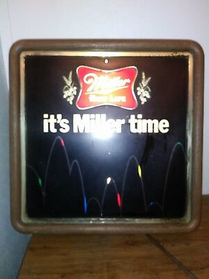 Vintage Miller High Life Bouncing Ball Motion Lighted Beer Sign Used Working