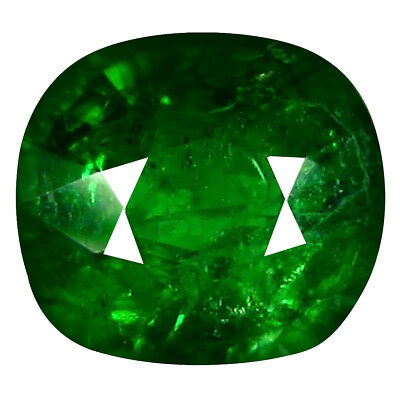 0.98 Ct Spectaculaire Coupe Coussin (6 X 5 mm) Russe Tsavorite Gemme Grenat
