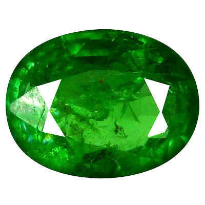 0,75 Ct Fabuleux Coupe Ovale (7 X 5 mm) Russe Tsavorite Grenade Libre