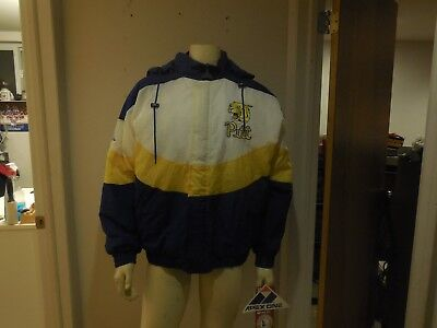 vintage university of pittsburgh apex one jacket size lg new w tags