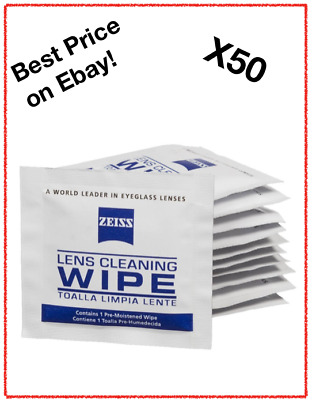 Zeiss Optical Lens Cleaning Wipes Glasses Phone Screen Camera X50 *Free P&P