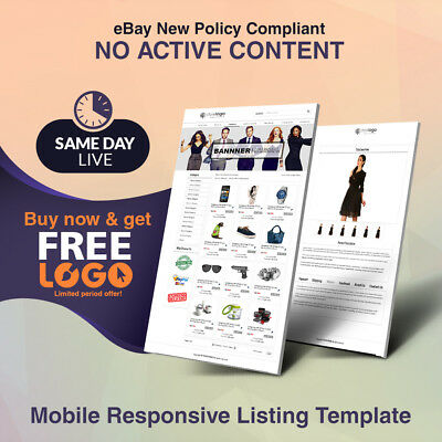 New Best eBay Store Templates Listing Auction HTML 2018 Template Get Free Logo