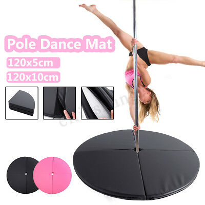 1.2M Folding Pole Dance Crash Safety Mat Faux Leather For Tumbling Stretching !