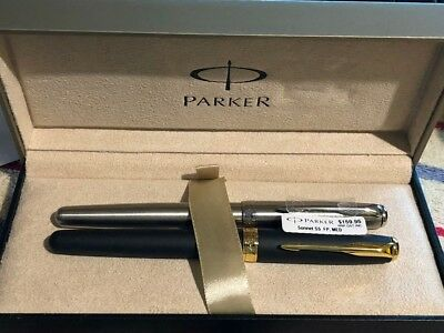Parker Sonnet Stainless Steel Fountain Pen With Chrome Trim CT Medium Point New