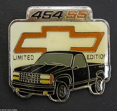 Vintage Rare Limited Edition Chevrolet 454 SS Truck Bowtie Hat Lapel Pin