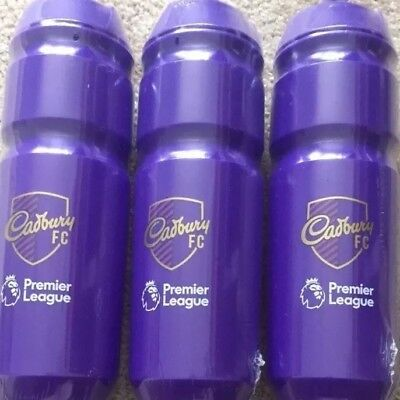 X3 Cadbury's FC Premier League Football Sports Bottle Water Bottle Gym 750ml