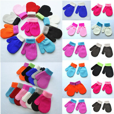 Soft Knitted Warm Winter Mittens For Baby Boy And Girl Cute Knitting Gloves 1-4Y