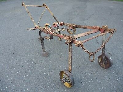Vintage Antique Horse Drawn Scarifier Cultivator Plough Late 19th early 20th c