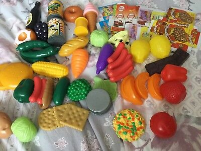 59 Pcs Kids Toy Pretend Role Play Kitchen Fruit Vegetable Cake Food & Boxes