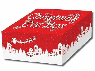 Christmas Eve Party Supplies Bag Fillers Favor Present Traditional Red Gift Box