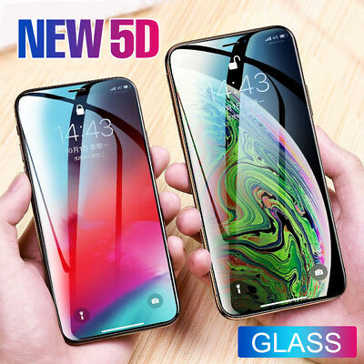 2X 5D Gorilla Tempered Glass Screen Protector  Apple iPhone XS,XR,XS MAX 8 7 LOT