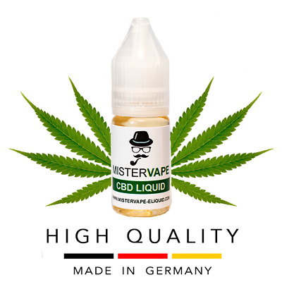 CBD Liquid 100mg | 10ml | Vape | Hemp | Juice | Made in Germany | 25 Flavors