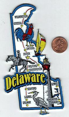 Delaware  State  Map  Jumbo Magnet   6 Color  - 1 Of 51 Jumbo Map Magnets