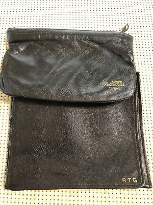 Lot of (2) VTG leather tobacco pouches Dunhill London