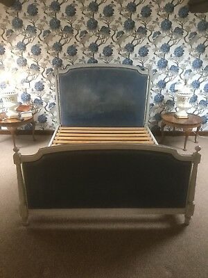 Painted French Upholstered Double Bed Frame