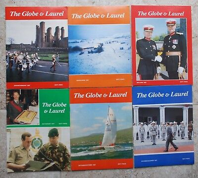1987 The Globe and Laurel (Royal Marines Journal) complete set of six issues