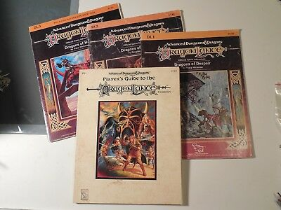 Advanced D&D Dragonlance Adventure Module Lot DL1 DL2 DL3 Players Guide campaig