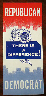 Vintage Early 60s Republican Brochure Flyer Party Difference Description Exclnt