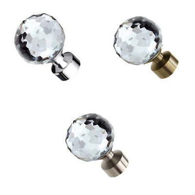 Speedy Poles Apart 28mm Bella Curtain Pole Finials, 2 Pack