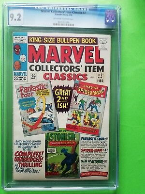1966 Marvel Collectors item classics issue 2 CGC 9.2