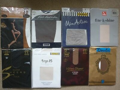 Joblot Of Vintage & Modern Ladies Tights Including Wolford Pretty Polly & Falke