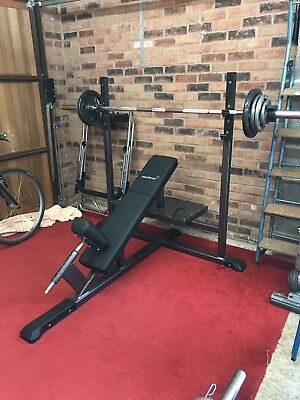 Olympic Weight Incline Bench And Bar And Weights