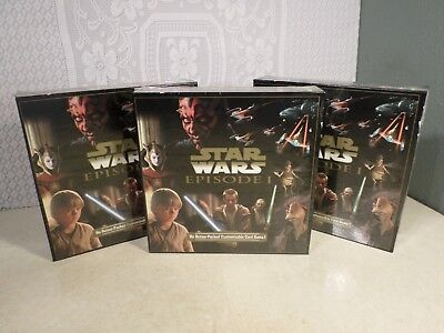 1999 Star Wars:Episode 1 Customizable Card Game New Sealed Boxes (Lot of 3)