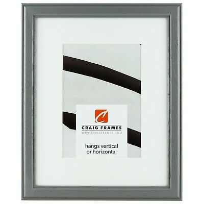 Craig Frames 8x10 2 Black Picture Frame White Mat With Opening For