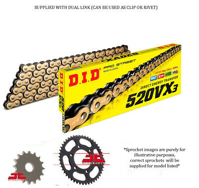 Kawasaki KLE300 CH/JF Versys-X ABS 2017-18 DID GOLD X-Ring Chain & Sprocket Kit