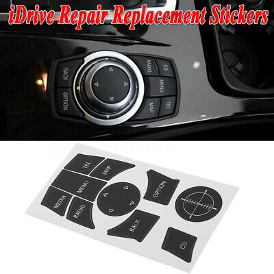 Repair Kit Replacement Stickers Decals Black For BMW 3 Series 5 Series iDrive