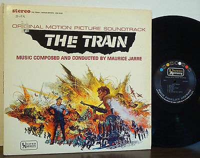 """MAURICE JARRE """"The Train"""" Orig Soundtrack RARE 1964 UNITED ARTISTS STEREO LP ost"""
