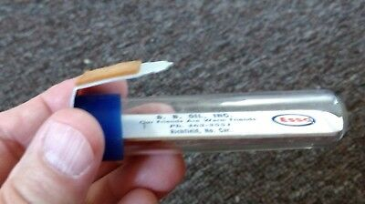 """Vintage ESSO GAS & OIL Co. Dealer """"TUBE"""" THERMOMETER... NICE!"""