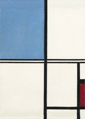 Composition with Blue and Red, 1932, PIET MONDRIAN De Stijl Neoplasticism Poster
