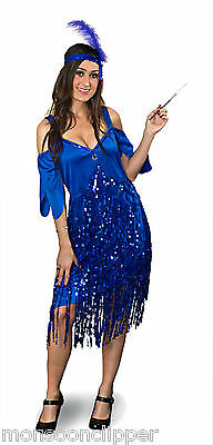 Halloween Party 1920's Costume Flapper Glitter Sequin Plus Size Full Figure