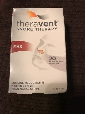 Theravent MAX (Maximum Strength) Snoring Therapy - 20 Night Supply
