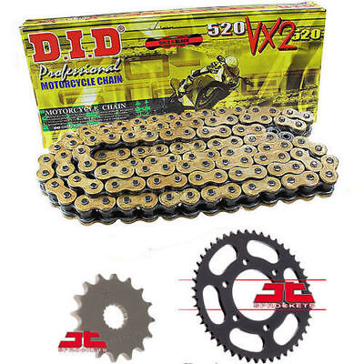 Honda XR650 R-Y-7 2000-2007 DID GOLD VX2 Heavy Duty X-Ring Chain & Sprocket Kit