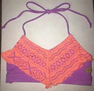 Califonia Kisses Dance Top size childs large. Lavender with orange flare top.